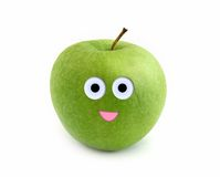 Smiling apple Royalty Free Stock Photo