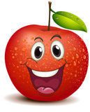 A smiling apple Stock Image