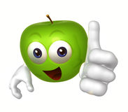 Smiling apple cartoon figure Royalty Free Stock Photos