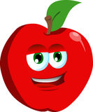 Smiling Apple Royalty Free Stock Images