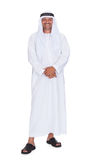 Smiling arabian man standing over white background Royalty Free Stock Photography