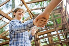 Smiling Architect Greeting Colleague At Royalty Free Stock Photo