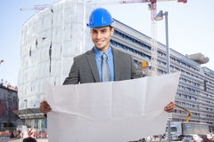 Smiling architect portrait Royalty Free Stock Photos