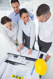 Smiling architect team working together Stock Photos