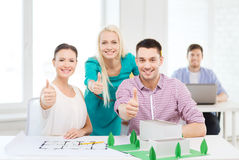 Smiling architects working in office Royalty Free Stock Photo