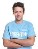 Smiling argentinian sports fan Stock Images