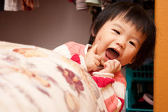 Smiling Asian Baby Royalty Free Stock Photography