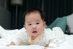 Smiling Asian baby Royalty Free Stock Image