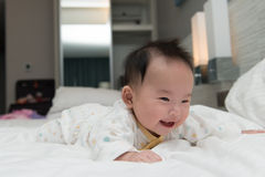 Smiling Asian baby Royalty Free Stock Images