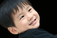 Smiling asian boy royalty free stock images