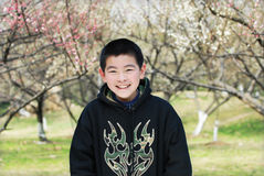 Smiling asian boy Stock Images