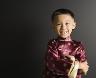 Smiling Asian boy. Royalty Free Stock Photo