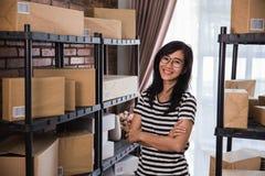 Asian business owner online entrepreneur stock images