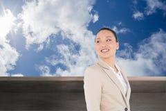 Smiling asian businesswoman Stock Photos