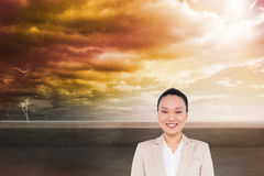 Smiling asian businesswoman Royalty Free Stock Images