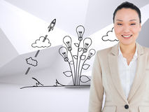 Smiling asian businesswoman Stock Images