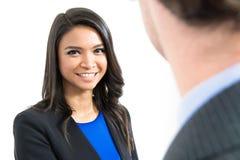 Smiling Asian businesswoman Stock Image