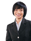 A smiling asian businesswoman portrait isolated Stock Images