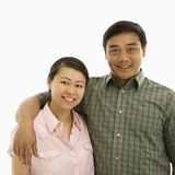 Smiling Asian couple. Stock Images