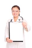 Smiling asian doctor Royalty Free Stock Photos