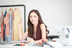 Successful Business woman smiling stock photos