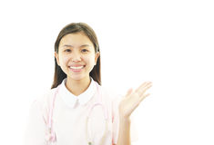 Smiling Asian female nurse. Portrait of an Asian female nurse Stock Images