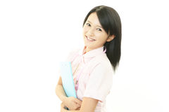 Smiling Asian female nurse Royalty Free Stock Images