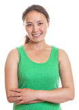 Smiling asian girl with crossed arms Stock Image