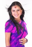 Smiling asian girl with sari Royalty Free Stock Photo