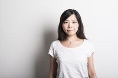 Smiling asian girl royalty free stock photography