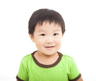 Smiling asian kid. Isolated on white royalty free stock photos