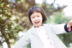 Smiling asian little girl Stock Photography