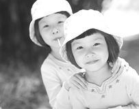 Smiling asian little girls Royalty Free Stock Photography
