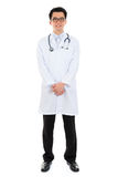 Smiling Asian male medical doctor Stock Photo