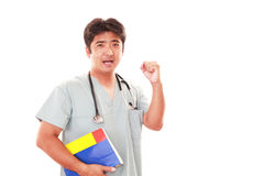 Smiling Asian medical doctor royalty free stock image