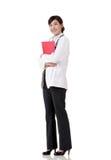 Smiling Asian medicine doctor woman Stock Photos