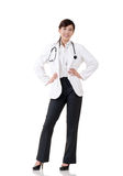 Smiling Asian medicine doctor woman Royalty Free Stock Photo