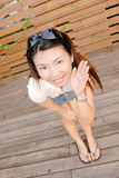 Smiling Asian modern lady Royalty Free Stock Photo
