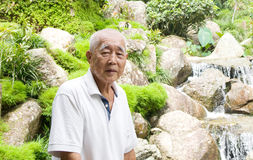 Smiling asian senior man. Royalty Free Stock Photo