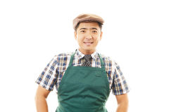 Smiling Asian waiter Stock Image