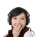 Smiling Asian woman stock image