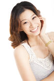 Smiling asian young woman Stock Photos