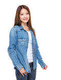 Smiling asian young woman Stock Photography