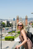 Smiling attractie woman in Barcelona Stock Photography