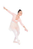 Smiling attractive ballerina dancing Royalty Free Stock Photo