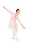 Smiling attractive ballerina dancing Royalty Free Stock Photo