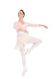 Smiling attractive ballerina spinning Royalty Free Stock Image