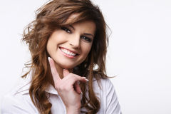 Smiling attractive brunette. Royalty Free Stock Photo