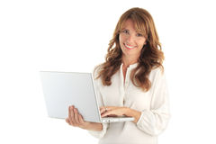Smiling attractive business woman Royalty Free Stock Photography