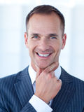 Smiling attractive businessman Royalty Free Stock Photo